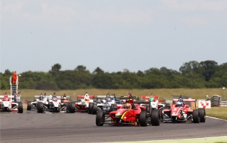 A large BRDC F4 field will take on the Grand Prix track at Brands Hatch sc