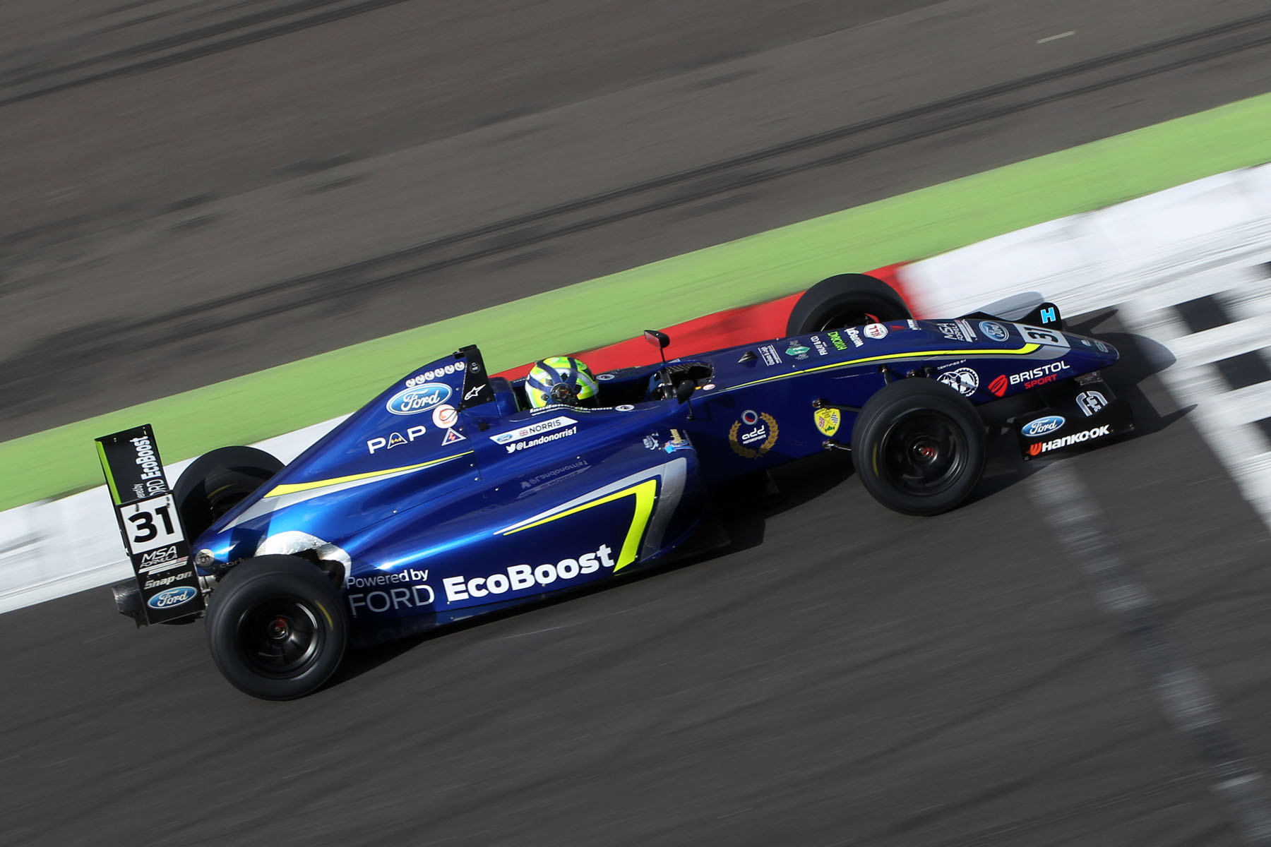 MSA Formula Ford Powered Norris Sets A Dominant Pace In Silverstone