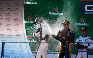 George Russell, Jack Aitken, Anthoine Hubert, ART Grand Prix, Autodromo Nazionale Monza (sc)