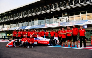 |Driver: Felix Rosenqvist| Team: Mahindra Racing| Number: 19| Car: M3 Electro||Driver: Nick Heidfeld| Team: Mahindra Racing| Number: 23| Car: M3 Electro|| Photographer: Nat Twiss| Event: Marrakesh ePrix| Circuit: CIRCUIT INTERNATIONAL AUTOMOBILE MOULAY EL HASSAN| Location: Marrakesh| Series: FIA Formula E| Season: 2016-2017| Country: MA|