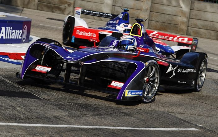 DS Virgin Racing driver Sam Bird on track during the Hong Kong E-Prix