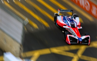 | Driver: Nick Heidfeld| Team: Mahindra Racing| Number: 23| Car: M4 Electro|| Photographer: Shivraj Gohil| Event: Hong Kong ePrix| Circuit: Hong Kong Central Harbourfront Circuit| Location: Hong Kong| Series: FIA Formula E| Season: 2017-2018| Country: China||| Session: FP1|