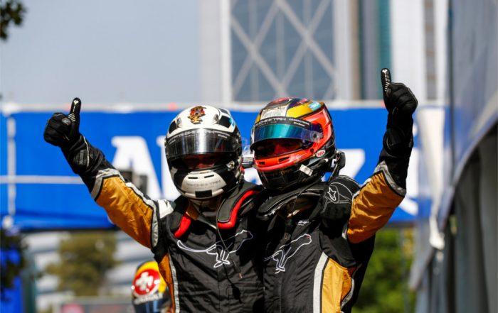 Andre Lotterer and Jean-Eric Vergne Santiago E-Prix