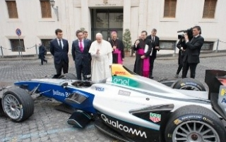 Formula E and the Pope