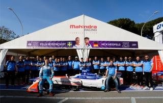 | Team: Mahindra Racing| Car: M4 Electro|| Photographer: Lou Johnson| Event: Rome ePrix| Circuit: Circuito Cittadino Dell'EUR| Location: Rome| Series: FIA Formula E| Season: 2017-2018| Country: Italy|