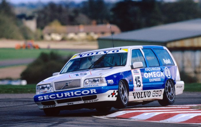 Rickard Rydell racing the Volvo 850 Estate in the 1994 British Touring Car Championship - both will be reunited for the Diamond Jubilee BTCC Parade (lr)