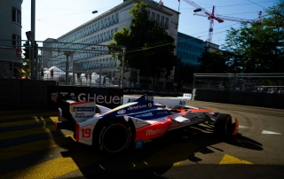 | Driver: Felix Rosenqvist| Team: Mahindra Racing| Number: 19| Car: M4 Electro|| Photographer: Lou Johnson| Event: Zurich ePrix| Circuit: Zurich Street Circuit| Location: Zurich| Series: FIA Formula E| Season: 2017-2018| Country: Switzerland|| Session: FP1|