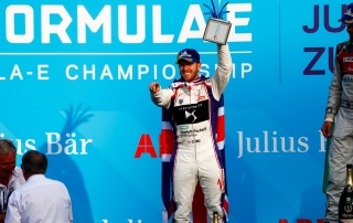 Lucas Di Grassi (BRA), Audi Sport ABT Schaeffler, Audi e-tron FE04, wins the Zurich ePrix, with Sam Bird (GBR), DS Virgin Racing, DS Virgin DSV-03, in and JŽr™me d'Ambrosio (BEL), Dragon Racing, Penske EV-2, in 3rd.
