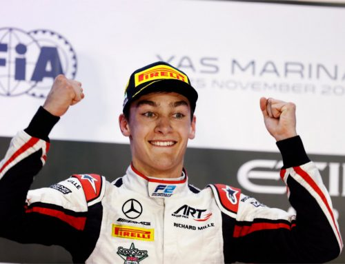 George Russell soars to race and championship victory